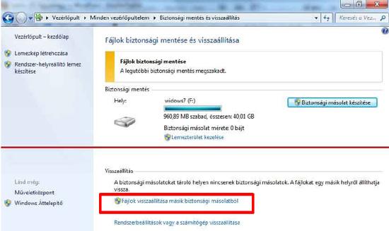 Hogy kell visszaállítani a számítógépet